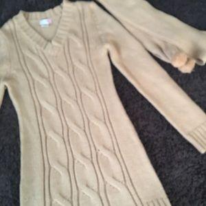 Body Central Sweater Dress W/ Scarf